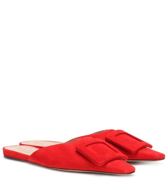 Marni Suede slippers in red