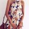 Lost in flowers strappy crop top shorts set - chicnico