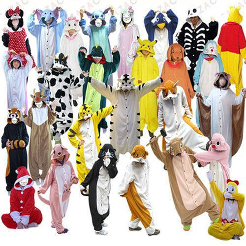 Hot sale unisexe kigurumi pyjamas adultes cosplay costumes animaux onesies suit