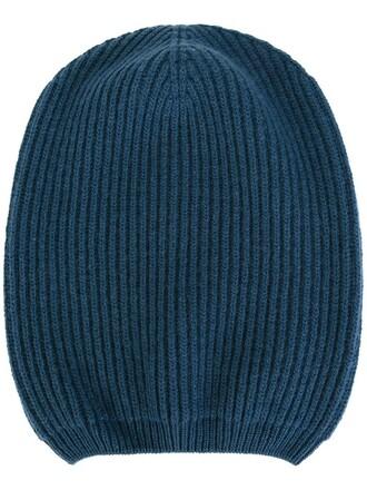 women hat beanie blue wool