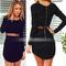 Fashion yarn spliced bare-waist package hip dress - $17.99
