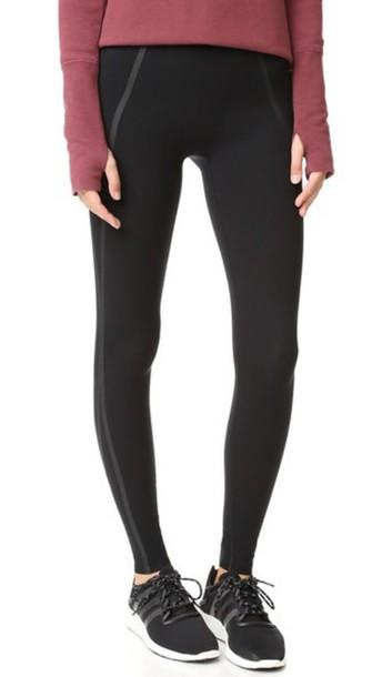 Spanx Every Wear Mesh Contour Leggings - Very Black