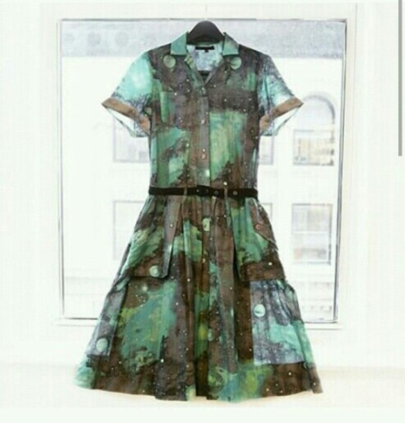 dress cute dress green dress