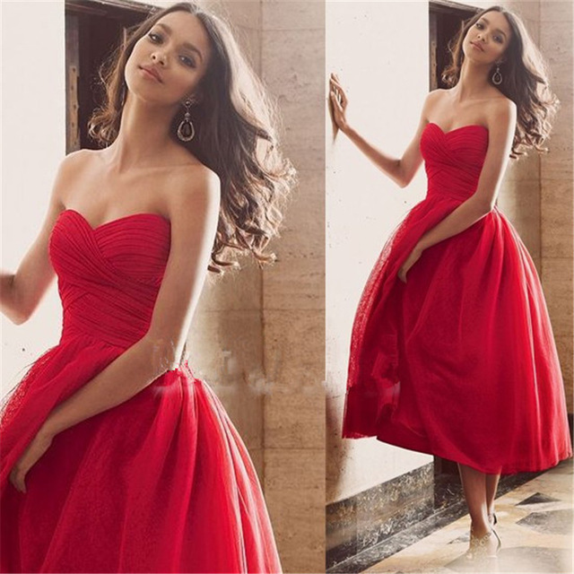 Aliexpress.com : Buy Cheap Red Short Ball Gown Prom ...