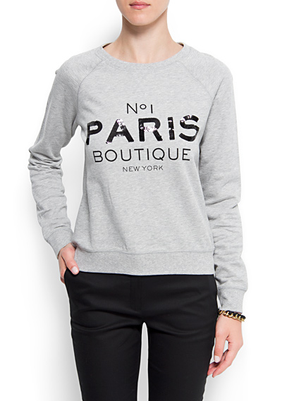 MANGO - NEW - Paris sweatshirt