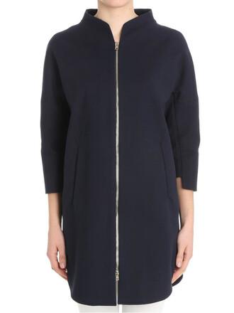 overcoat blue coat