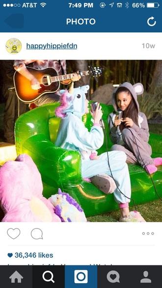 pajamas miley cyrus ariana grande underwear unicorn onesie