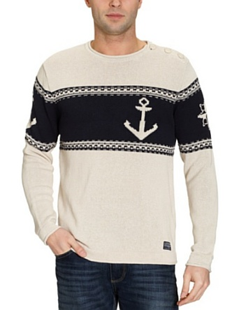 Cottonfield Clayton Men's Jumper Birch Bark XX-Large: Amazon.co.uk: Clothing