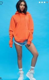 sweater,orange,women,hoodie