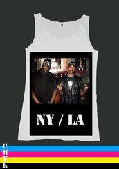 shirt,biggie,tupac,clothes,tank top,rapper,swag