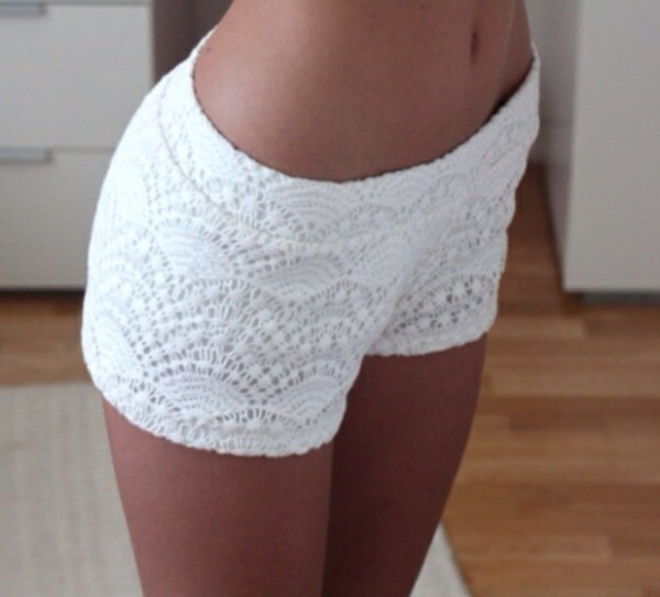white lace shorts lace shorts fashion summer outfits