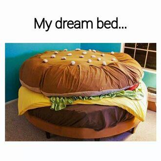 tights bedding hamburger home decor