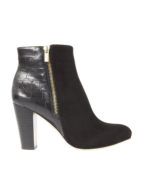 Cleo Suede Booties | Ann Taylor