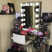 home accessory,makeup table,glass,desk,glass desk,table,dressing table