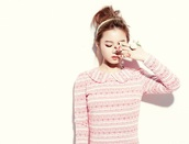 dress,lee hi,kpop,rose,collared dress,pink dress
