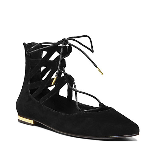 DAAYNA BLACK SUEDE women's casual flat closed toe - Steve Madden