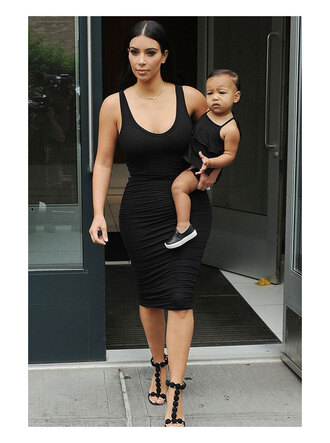 skirt kim kardashian top shoes black bodycon