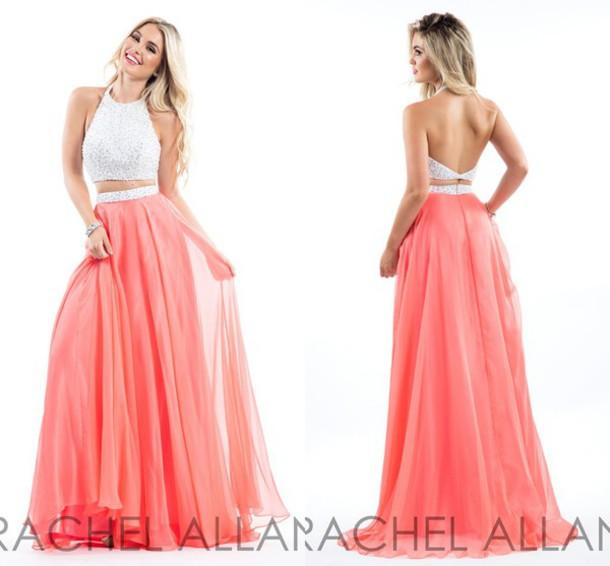 2677697b4 dress molly bridal two piece prom dresses coral prom dress 2016 prom dresses  long evening dress