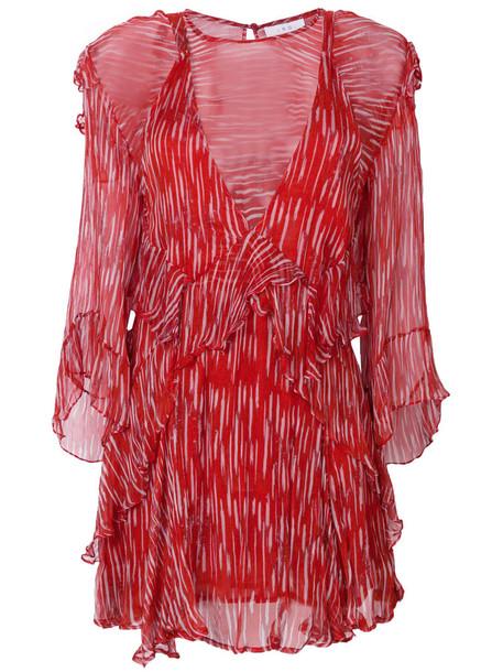 Iro dress printed dress women layered red