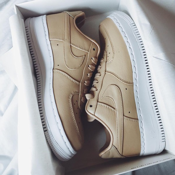 wholesale dealer 11ae8 6522c shoes nike nike air force 1 beige tan