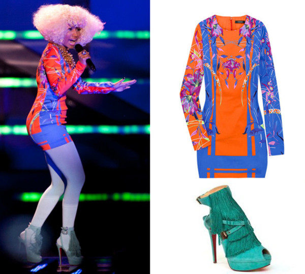 dress nicki minaj versace