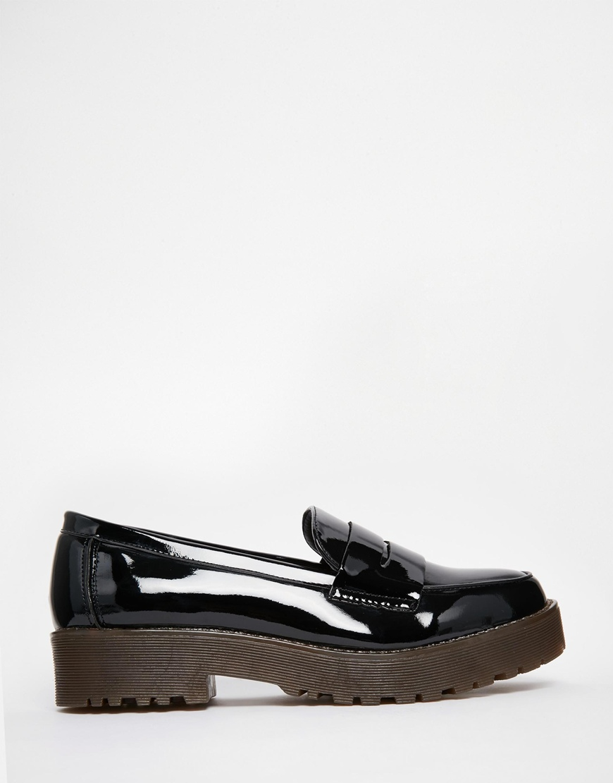 New Look Chunky Sole Loafer Shoe At Asos.com