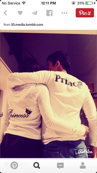 princess prince sweater couples clothing