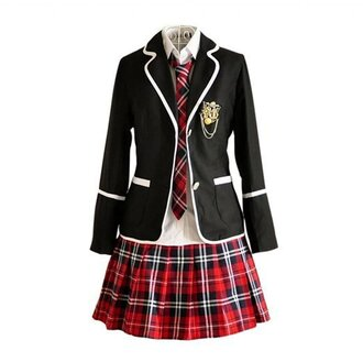 skirt school uniform uniform anime plaid plaid skirt uniforms plaid uniform cosplay