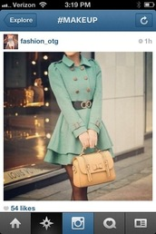 coat,dress coat,mint,chanel inspired,belt,louis vuitton,winter outfits,cute dress,double button coat