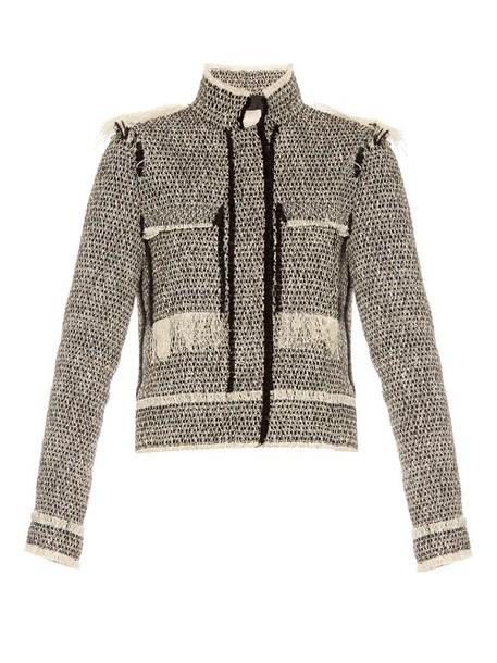 lanvin jacket white black