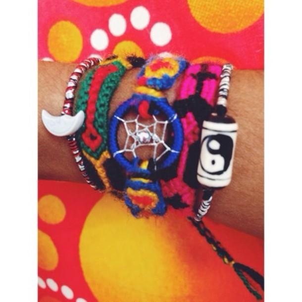 jewels bracelets cute summer peace boho stack dreamcatcher hippie hippie bohemian stacked jewelry