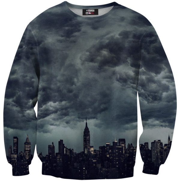 sweater new york city clouds