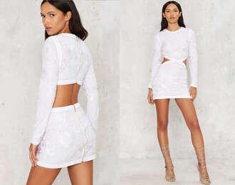 dress cut-out white dress