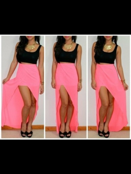 skirt pink pink skirt maxi skirt maxi dress dress cute dress