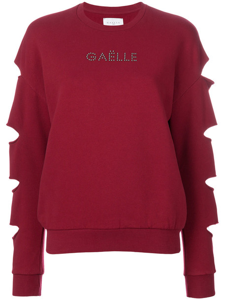 Gaelle Bonheur jumper long women cotton red sweater