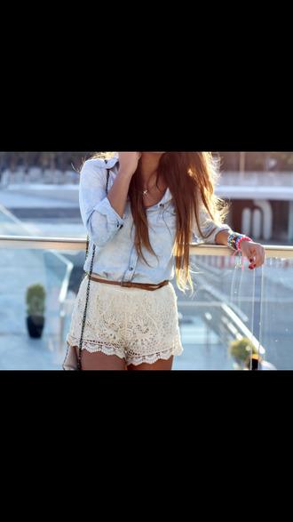 dentelle blanc chemise