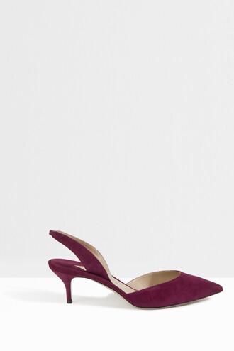 back women heels pink shoes