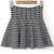 Black White Plaid Slim Pleated Knit Skirt - Sheinside.com
