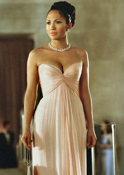 peach dress long sleeveless dress