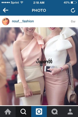 dress white bow dress bow blouse skirt