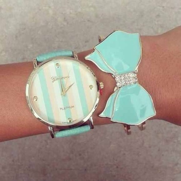jewels watch blue stripes