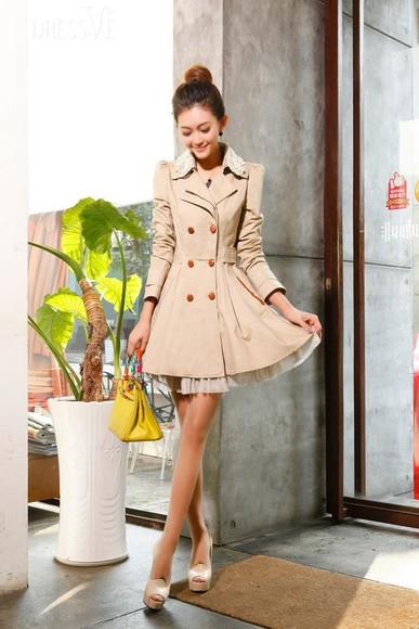 trench coat jacket nude fancy