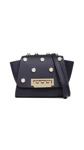 cross mini pearl bag navy
