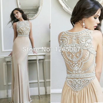 Aliexpress.com : Buy Dream Dress Golden Low Cut Back V Neck Sparkling Maxi Dress Gorgeous Beautiful Stunning Sequins Backless Slit Sexy Prom Dress from Reliable dress real suppliers on SFBridal