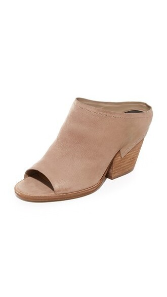 mules taupe shoes