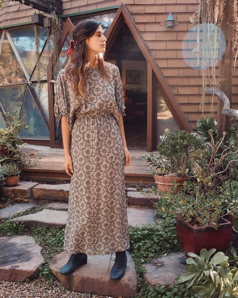 The Mia Dress   Noir Brocade