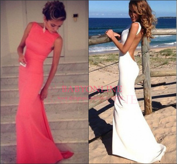 Aliexpress.com : Buy Vestido de fiesta Sexy backless slim tight Sheath evening dresses prom gowns woman dresses Custom made Free shipping 2014 from Reliable gown evening dress suppliers on Suzhou babyonline dress Factory