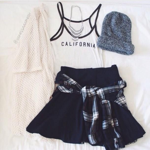 shirt cardigan tank top skirt top hat jewels