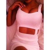 dress,white,cut-out,tumblr,instagram,fvkin,bag,white dress,cute dress,cut-out dress,t-shirt,whitecutout,bodycon,bodycon dress