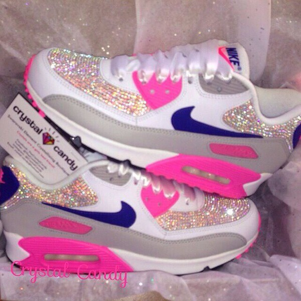 shoes nike air nike running shoes crystal tumblr tumblr outfit tumblr clothes pink coat nike air max 90 dor? swag jeans crystal candy airmaxes low top sneakers nike shoes multicolor glitter